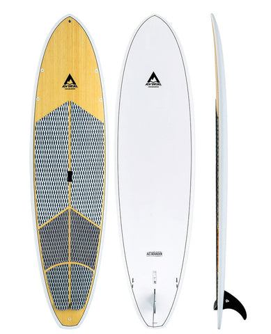 Adventure SUP 10'6 SUP Stand up Paddle Board - White Bamboo - SURF WORLD Fort Lauderdale Florida