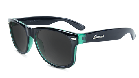 KnockAround Fort Knocks Glossy Black Sage Smoke Polarized Sunglasses