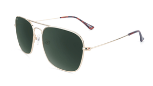 Knockaround Mount Evans Polarized Sunglasses - Gold Aviator Green SURF WORLD