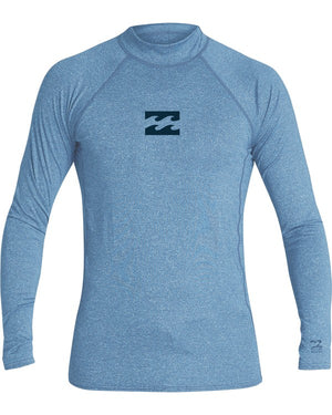 Billabong All Day Wave Performance Fit LS Mens Rashguard - Royal Heather