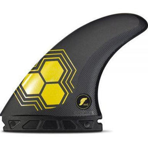 Futures AM2 Alpha Thruster Fins Large   - Carbon Yellow