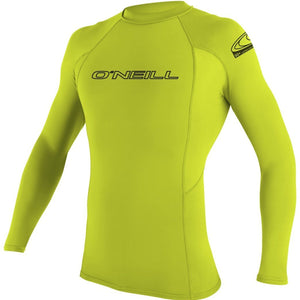 Oneill YOUTH BASIC SKINS Rashguard  L/S CREW 3346 UPF 50+ - Lime SURF WORLD