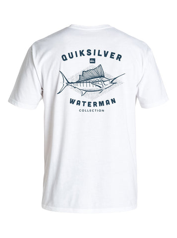 Quiksilver Men's Waterman Bill Collector Tee - White - SURF WORLD Florida