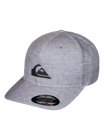 Quiksilver Amphibs Stretch Fabric Flex Fit Hat  L -XL Grey Quiet Shade