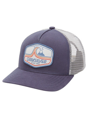 Quiksilver  Tweaked Out Trucker Hat - Navy Blazer
