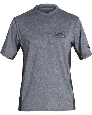 Billabong Arch Mesh Loose Fit SS Mens Rashguard - Grey Heather