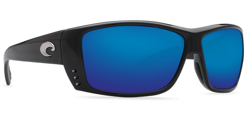 Costa Cat Cay Black Blue Mirror 580G Glass Polarized Sunglasses