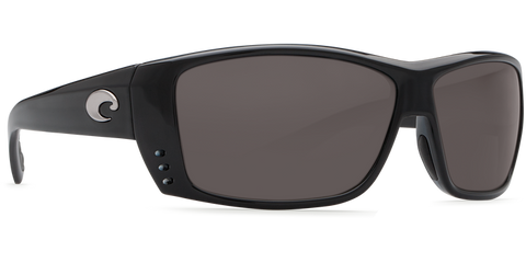 COSTA CAT CAY Black Gray 580P POLARIZED SUNGLASSES