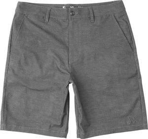RVCA Back In Mens Hybrid Short - Grey Noise Heather SURF WORLD