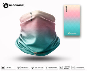 Blockade UPF Neck Gaiter - Diamond Gradient Pastel