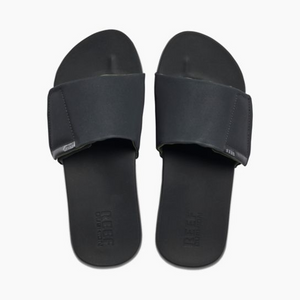 Reef Cushion Bounce Slide Mens Slide Sandals - Black SURF WORLD