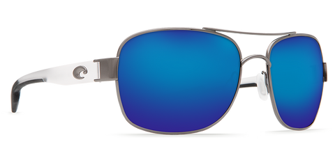 Costa Cocos Gunmetal w/ Crystal Temples  Blue Mirror 580P Polarized Sunglasses
