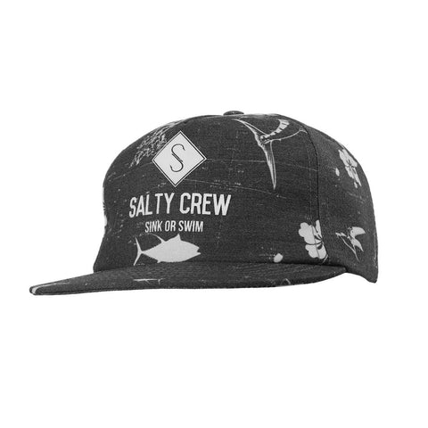 Salty Crew Chart Mens Hat - Black