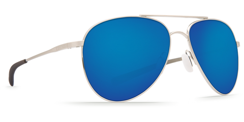 Costa Cook Brushed Palladium Blue Mirror Lens 580P Polarized Sunglasses