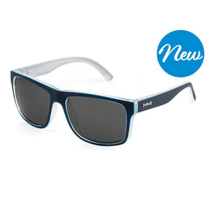 Carve Crimson Polarized Sunglasses - Matte Black Blue Cyan