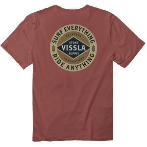 Vissla Barnstrom Pocket T-Shirt - Rusty Red