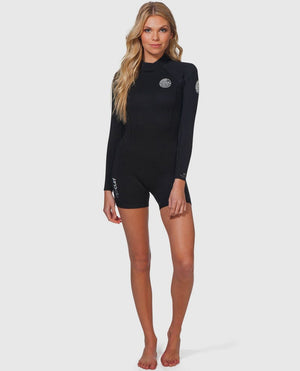 Rip Curl Womens Dawn Patrol 2mm LS Springsuit - Black