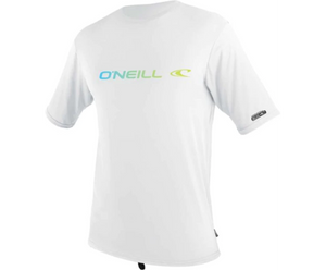 Oneill Mens Linear S/S Rash Tee - White / Graphite SURF WORLD