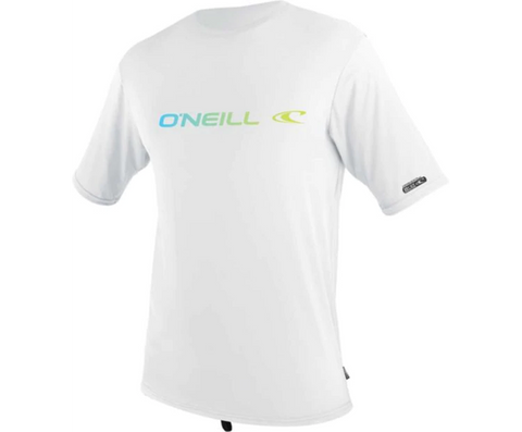 Oneill Mens Linear S/S Rash Tee - White