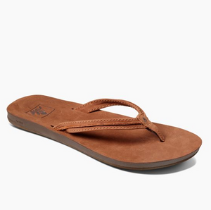 Reef Cushion Bounce Swing Leather Sandals - Tobacco SURF WORLD