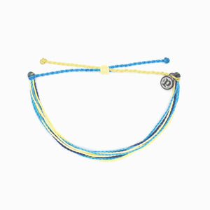 Pura Vida Charity Water Bracelets - Blue Yellow