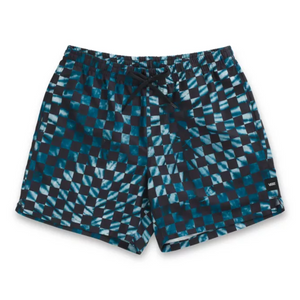 "Vans Mixed Volley Elastic Shorts  16"" - MOROCCAN BLUE CHECKERBOARD TIE DYE"