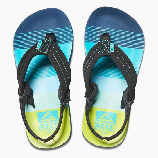 aa3fb589dc5c Reef Little Ahi Boys Sandals - Aqua Green – SURF WORLD