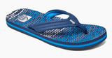 Reef Ahi Kids's Blue Horizon Waves Sandals