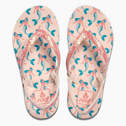 Reef Little Stargazer Prints Girls Sandals - Mermaid