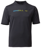 Oneill Mens Linear S/S Rash Tee - White / Graphite