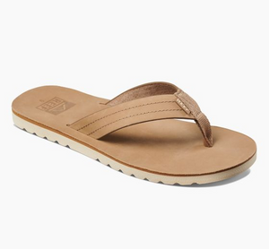 Reef Voyage Le Leather Sandals - Khaki SURF WORLD