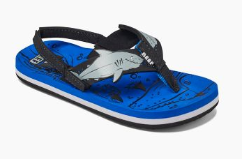 Reef Little Ahi Kids Shark Sandals - Blue Shark