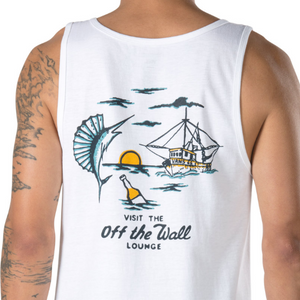 Vans Off the Wall Lounge Tank - White SURF WORLD