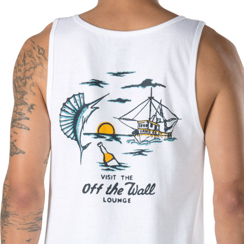 Vans Off the Wall Lounge Tank - White