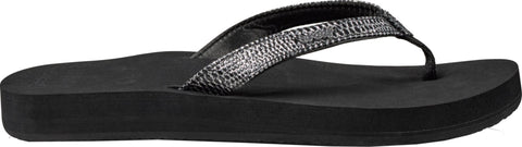 Reef Star Cushion Sassy Women's Sandals - Black Silver