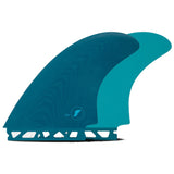 Futures Surfboard Fins EN Fiberglass Twin fin Set - Teal SURF WORLD
