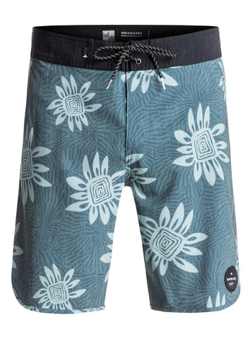 "Quiksilver Roca Scallop 19"" Boardshorts - Indian Teal - SURF WORLD Fort Lauderdale Florida"