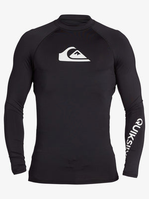 Quicksilver All Time Long Sleeve UPF 50 Rashguard - Black