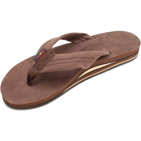 e8dd0d391edb2f Rainbow Sandals Men s Double Layer Expresso Premier Leather with Arch  Support 302ALTS0EXPRM - SURF WORLD Fort