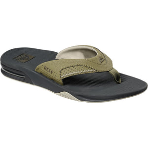 Reef Mens Fanning Deep Olive Sandal 2026 with bottle opener