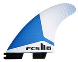 FCS II JS PC MEDIUM TRI FIN SET BLUE WHITE - SURF WORLD Fort Lauderdale Florida