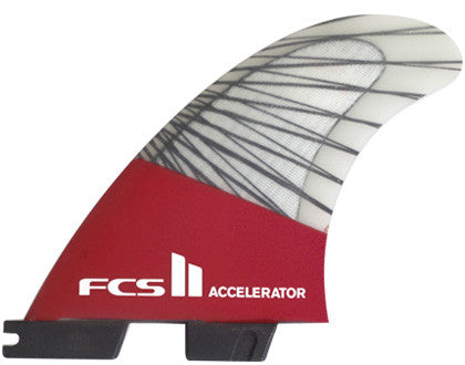 FCS II Accelerator PC Carbon Red Thruster Medium Surf Fins 2017 - SURF WORLD Florida