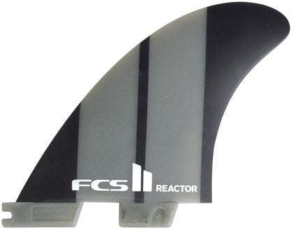 FCS 2 Reactor Neo Glass Charcoal Medium Tri Surf Fins - SURF WORLD Florida