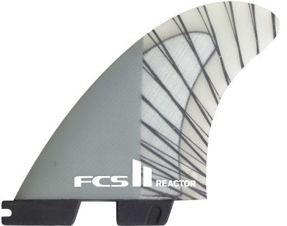 FCS II Reactor PC Carbon Charcoal Surf Fins LARGE - SURF WORLD Florida
