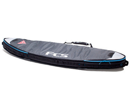 FCS Double Travel Cover Fun Board 6'7 Grey BTD067FBGRY - SURF WORLD Florida