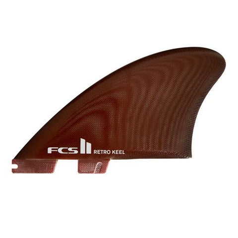 FCS II Retro Twin keel Fins - Red Fiberglass