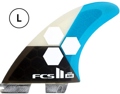 FCS II  AL MERRICK AM Thruster Large Surfboard Fins FCS 2 - SURF WORLD