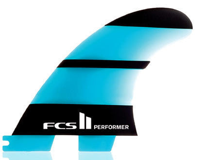 FCS II  Performer Neo Glass Small Tri Surfboard Fins FCS 2 - SURF WORLD Fort Lauderdale Florida