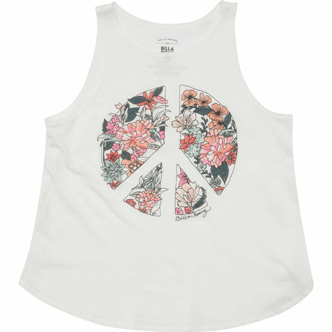 Billabong Flowers Of Peace Girls Tank Top - SURF WORLD Fort Lauderdale Florida