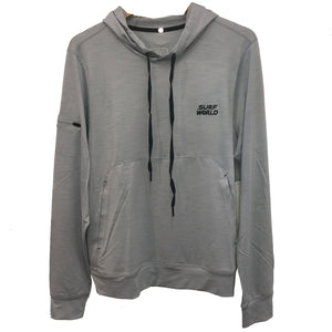Surf World Hooded Heather Grey Sun Shirt - UPF 50